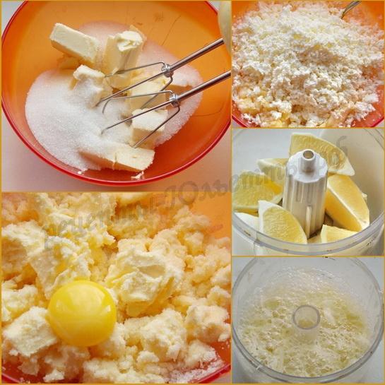 как приготовить лимонный кекс  с творогом