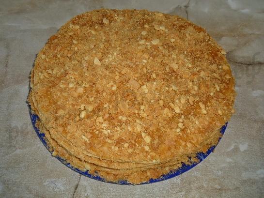 торт медовик со сгущенкой готов