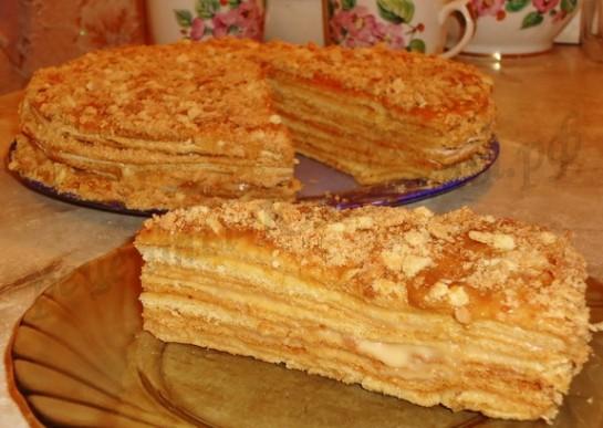 торт медовик с ириской