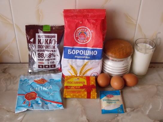 ингредиенты для кексов с заварным кремом