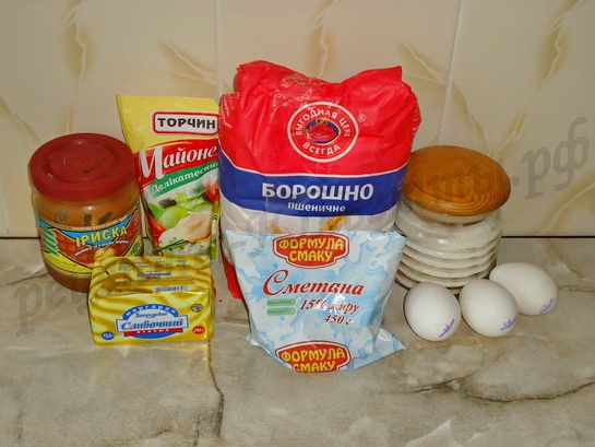 ингредиенты для маффинов со сгущёнкой