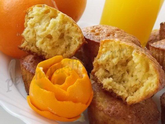 апельсиновые маффины готовы