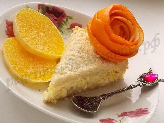 апельсиновый пирог с творогом готов