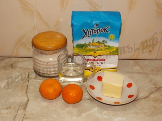 ингредиенты для крема с мандаринами