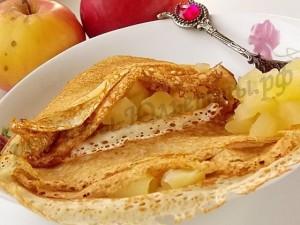 блинчики с яблоками рецепт