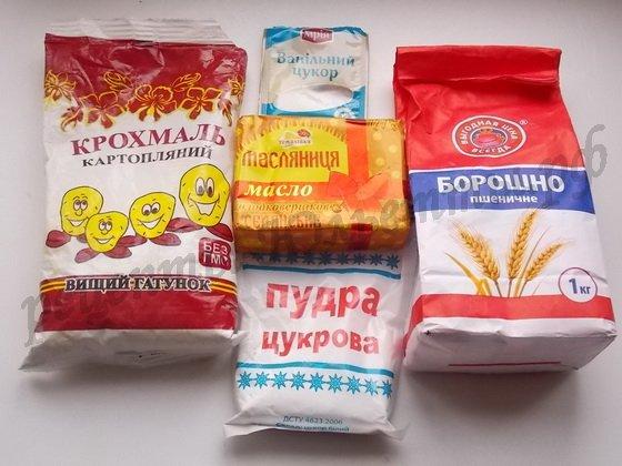 ингредиенты для нежного песочного печенья