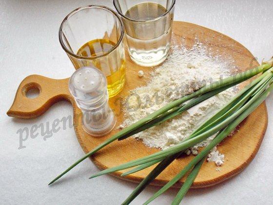 ингредиенты для слоеных пирожков с луком