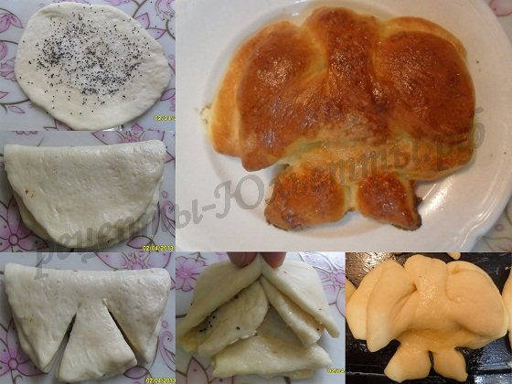 как сделать булочки красиво фото: бантик №1