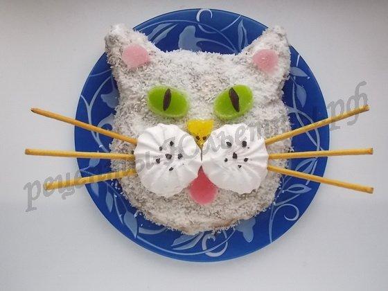 торт кот фото рецепт