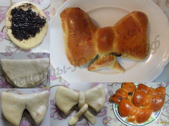 как сделать булочки красиво фото: бантик №2