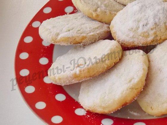 песочное лимонное печенье фото