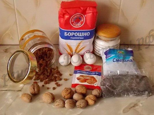 ингредиенты для домашнего торта Сказка