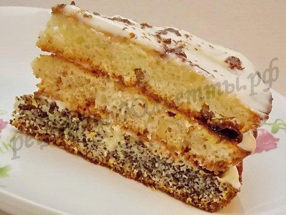 домашний торт Сказка из трёх коржей