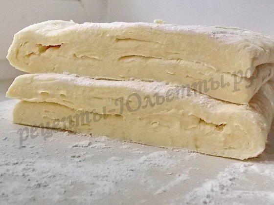 домашнее слоёное тесто в разрезе