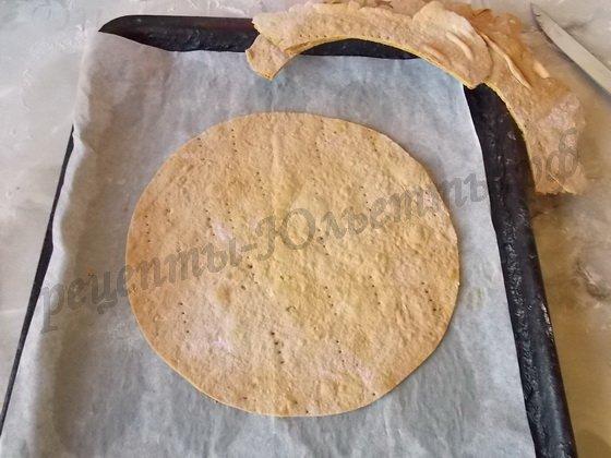 круглый корж для медовика