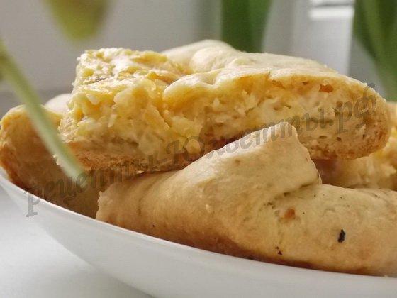 закусочный пирог с плавлеными сырками