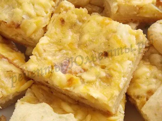 закусочный пирог с сырками
