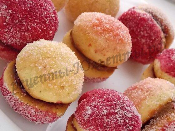 домашние пирожные персики