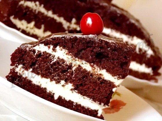 шоколадный торт на кипятке фото