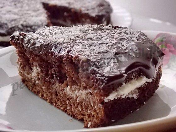 торт баунти шоколадный бисквит с кокосовой стружкой