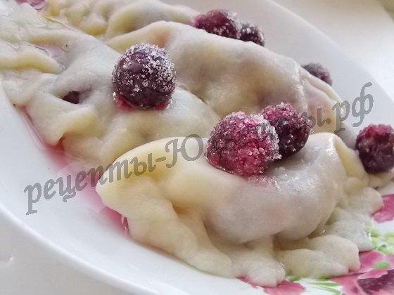 вареники с вишнями фото рецепт