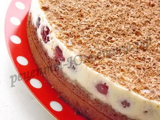 желейный вишнёвый торт