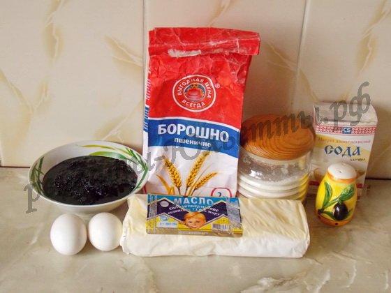 ингредиенты для песочного венского печенья