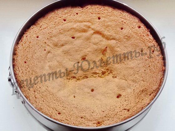 выпекаем бисквит для торта