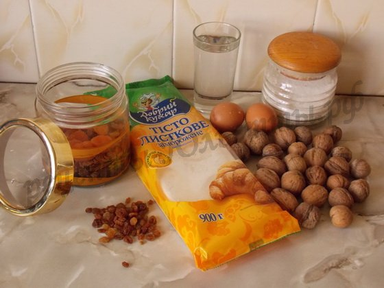 ингредиенты для быстрой пахлавы