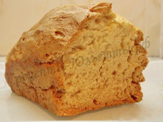 домашний хлеб на кефире без дрожжей