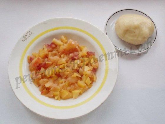 тесто и начинка для плацинд с яблоками