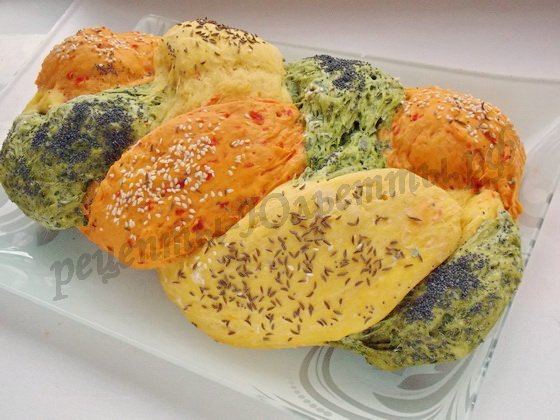 цветной хлеб фото рецепт