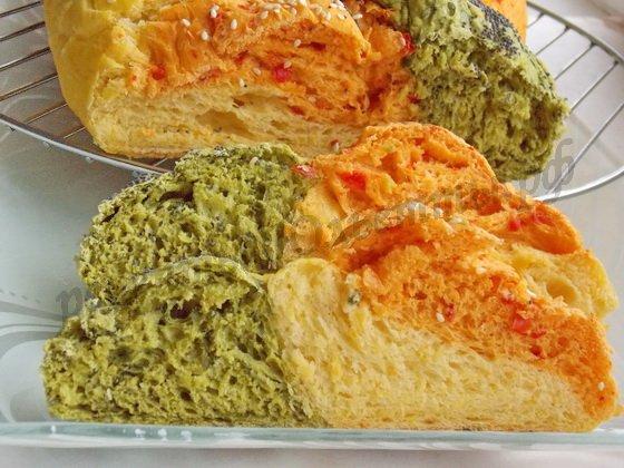 трёхцветный хлеб фото рецепт