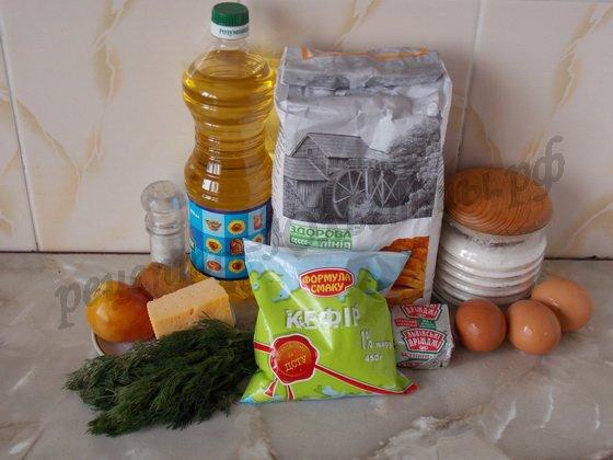 ингредиенты для чебуреков на кефире
