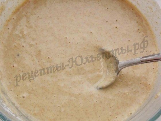 тесто для цельнозерновых вафель на молоке