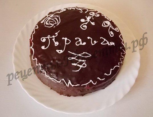украсим домашний торт прага