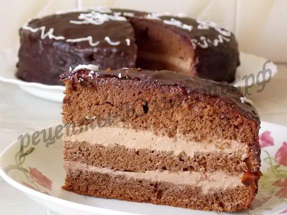 домашний пражский торт фото рецепт