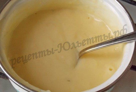 как приготовить заварной крем без масла