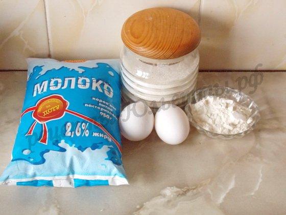 ингредиенты для заварного крема без масла
