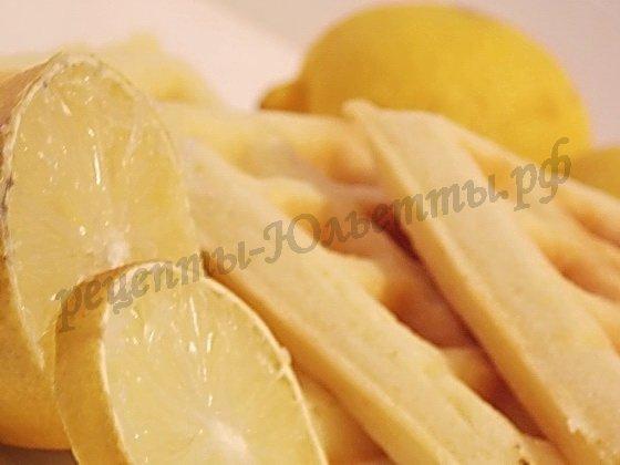 лимонные вафли мягкие