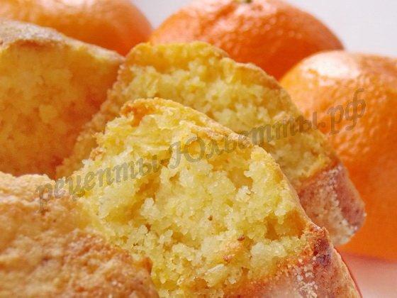 мандариновый манник фото рецепт