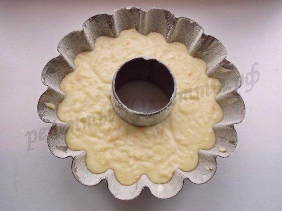 выложим апельсиновое тесто в форму