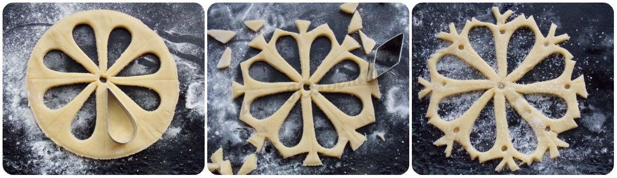 песочное печенье в виде снежинки