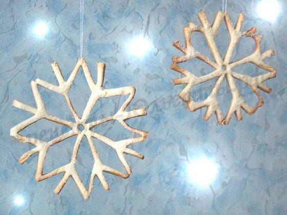 новогоднее песочное печенье снежинки