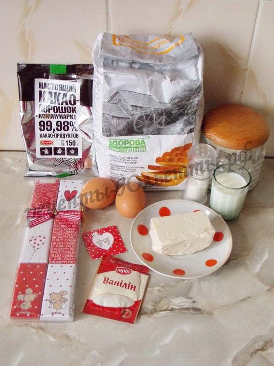 ингредиенты для шоколадных вафель с глазурью