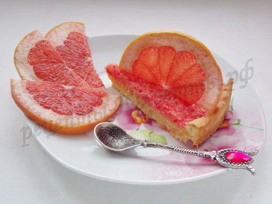 песочный пирог с грейпфрутом