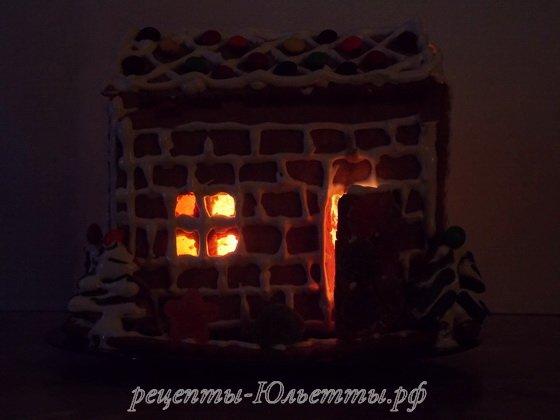 пряничный домик фото рецепт