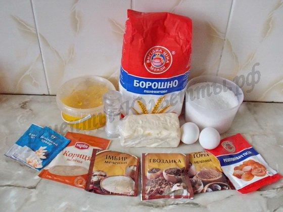ингредиенты для теста пряничного домика