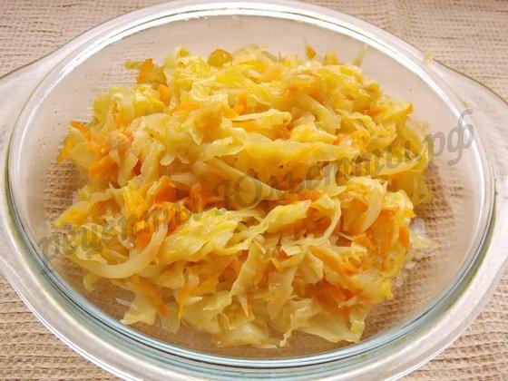 начинка из капусты для пирогов и вареников