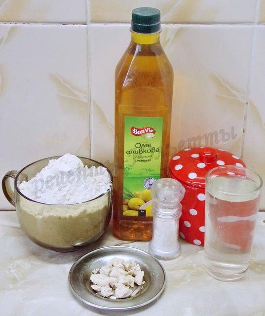 ингредиенты для французского багета